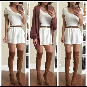 Pants - White playsuit